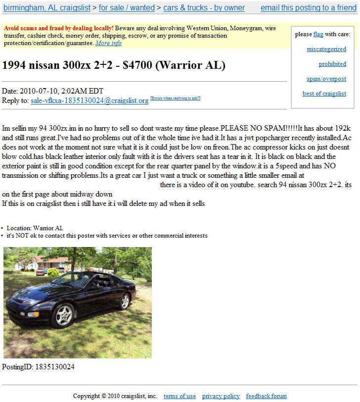 craigslist | Nissan Z site