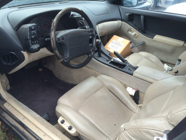 The interior is in need of some reconditioning