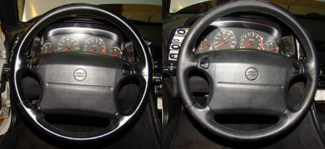 300ZX Z32 before-after Magic Eraser cleaning